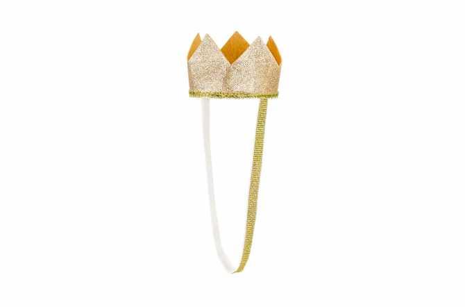 Couronne dorées pailletées - 8,5cm