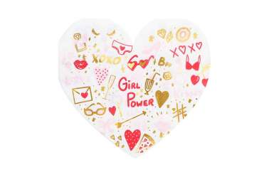 20 Serviettes cœurs girl power