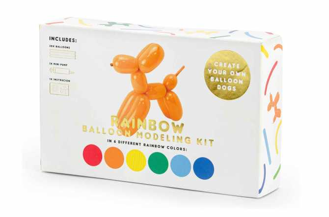 Kit 30 Ballons pastels à modeler avec pompe - 130 cm