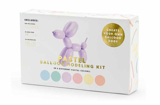 Kit 30 Ballons pastels claires à modeler avec pompe - 130 cm