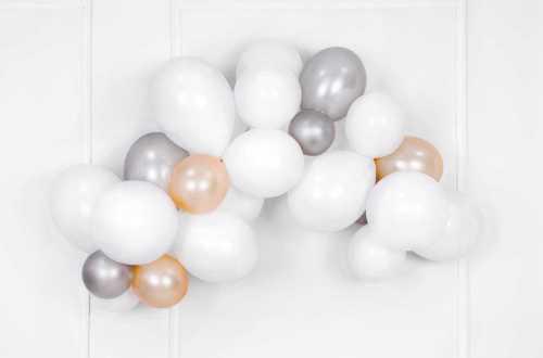 10 Ballons de baudruche - crème pastel