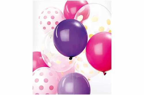 Deco Ballons violet et rose