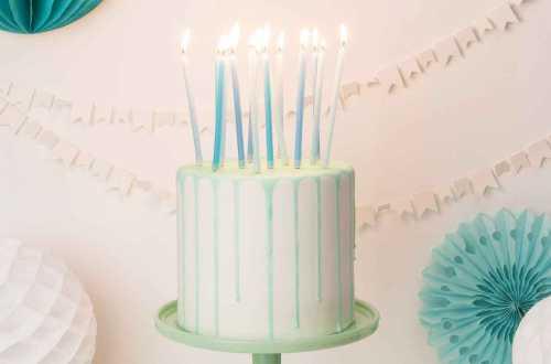 16 Bougies nuances de bleu