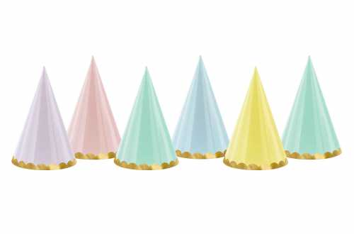 6 Chapeaux de fête – mix pastel