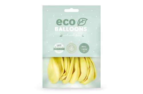 10 Ballons de baudruche - jaune clair pastel