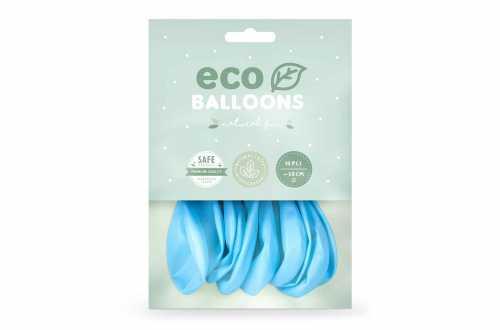 10 Ballons de baudruche - bleu bébé pastel