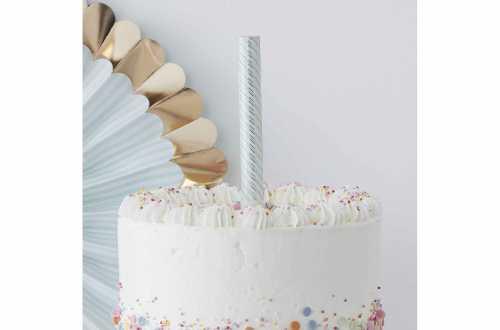 3 Fontaines gâteaux pastels à flamme dorée