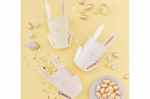 8 Gobelets - Lapin de Pâques avec oreilles