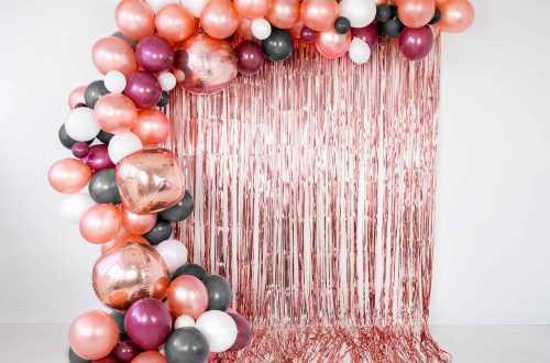 10 Ballons de baudruche - orange métallique