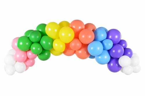 Kit arche de ballons – Arc-en-ciel multicolore (60 ballons)