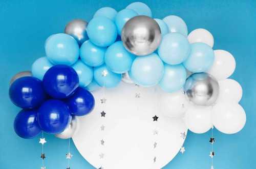Kit arche de ballons – Bleu (60 ballons)