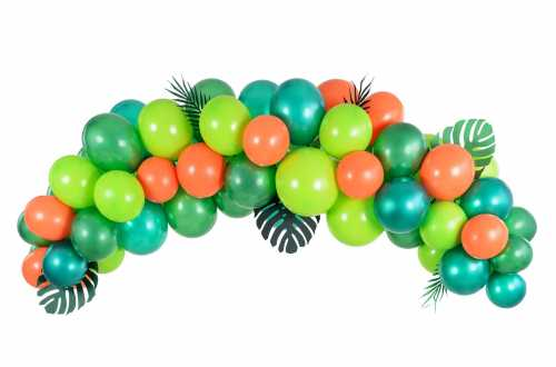 Kit arche de ballons – Dino party ou Tropical party (60 ballons)