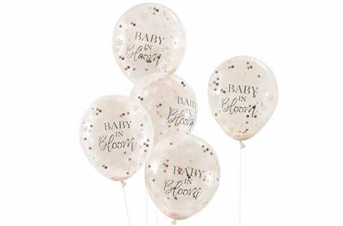 5 Ballons à confettis pour baby shower
