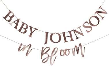 Guirlande personnalisable pour baby shower et anniversaire (DIY)