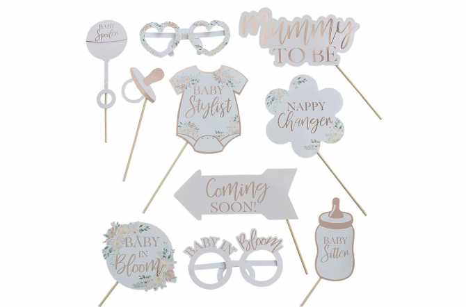 Kit photobooth pour baby shower - (10 pièces)