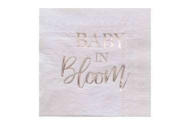 16 Serviettes fleuries pour baby shower