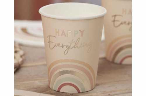 8 Gobelets Happy Everything - Arc-en-ciel