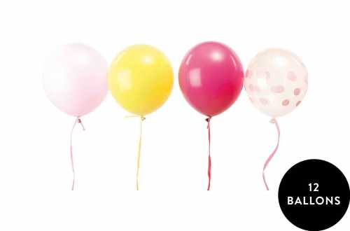 12 Ballons assortis candy mixte