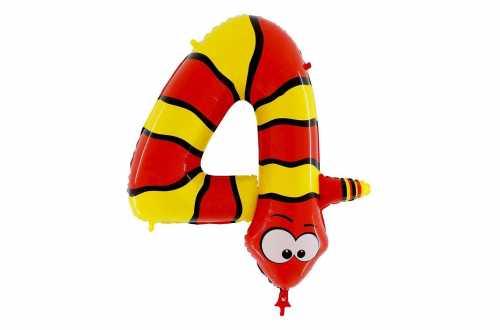 Grand ballon serpent chiffre 4 - 102 cm