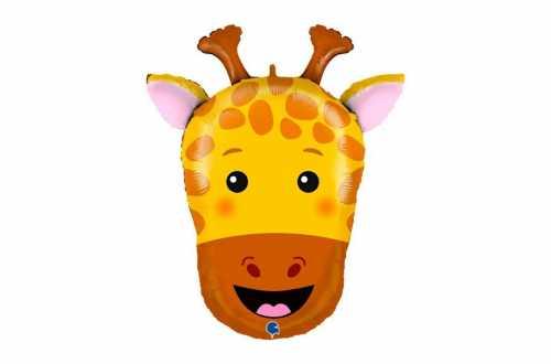 Grand Ballon tête girafe - 74 cm