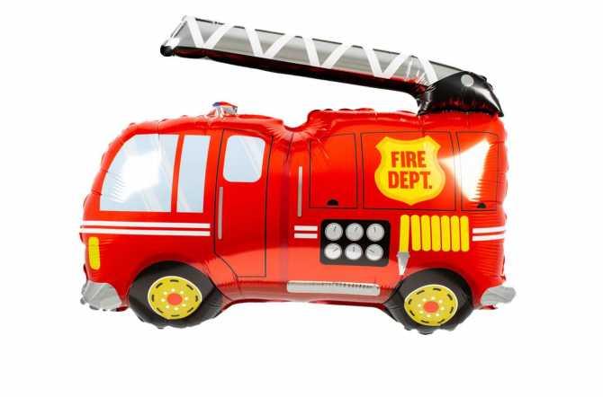 Grand ballon camion de pompiers - 102 cm