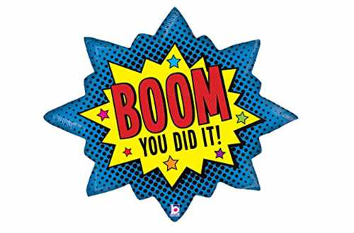 Grand ballon super-héros Boom you did it ! - 81 cm