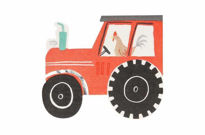 16 Serviettes - Tracteur