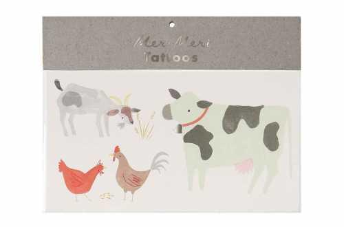 Tatouages temporaires - La ferme et ses animaux