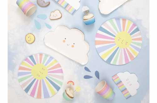 24 Caissettes pour cupcakes et toppers - Météo joyeuse