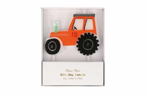 Bougie tracteur pour anniversaire animaux de la ferme