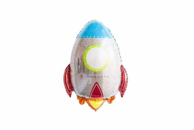 Grand ballon aluminium Fusée – Anniversaire  astronaute - cosmonaute