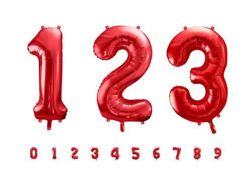 ballon chiffre rouge