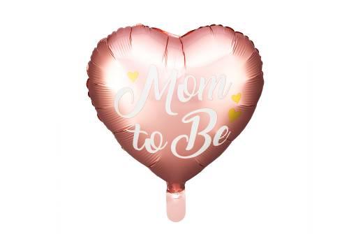 Ballon aluminium Mom to Be rose - 35 cm