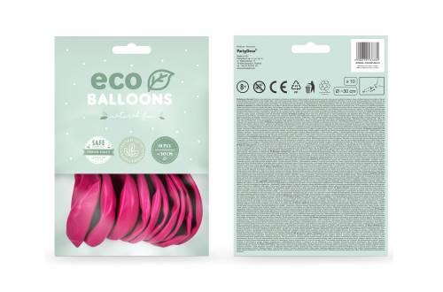 Ballons de baudruche écologiques rose grenat pastel