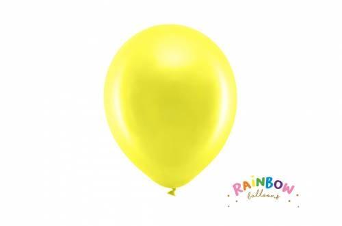 Ballon jaune métallique