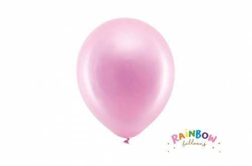 Ballon rose métallique