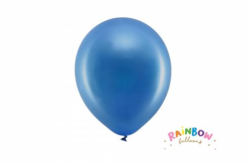 Ballon bleu marine métallique