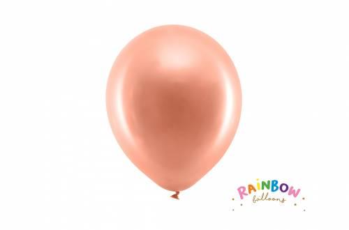 Ballon rose doré métallique