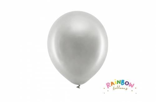 Ballon gris métallique
