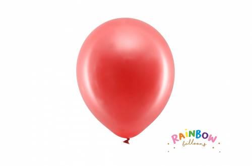 Ballon rouge métallique