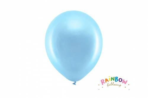 Ballon bleu métallique