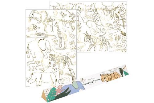 posters Animaux à colorier