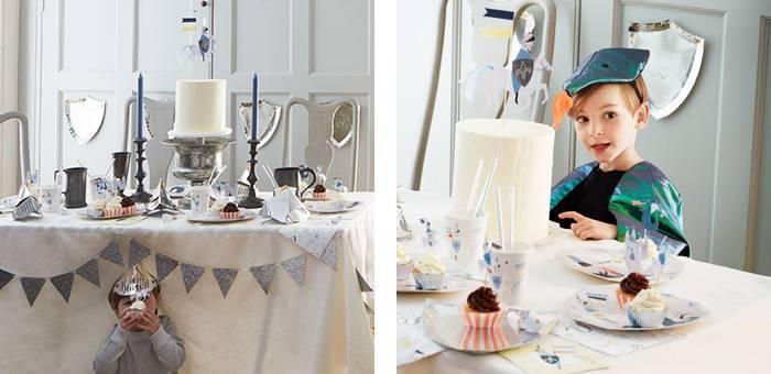 Idées pour une decoration anniversaire chevalier et dragon