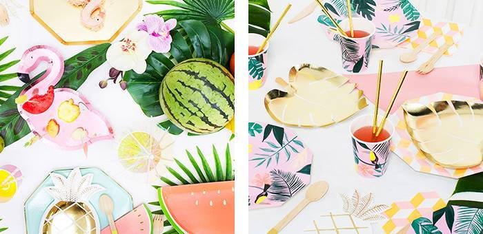 Anniversaire Tropical : articles de décoration tropicale