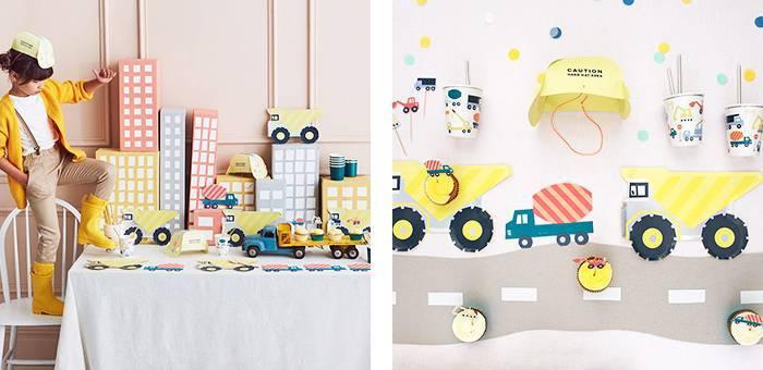 Anniversaire chantier - La décoration pour anniversaire camion